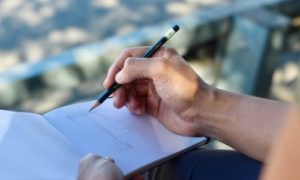 字を書く 手書き